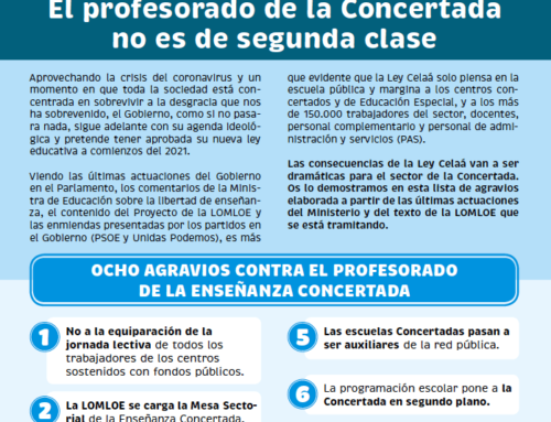 Documento de FEUSO sobre los agravios de la Ley Celaá al profesorado de la Concertada
