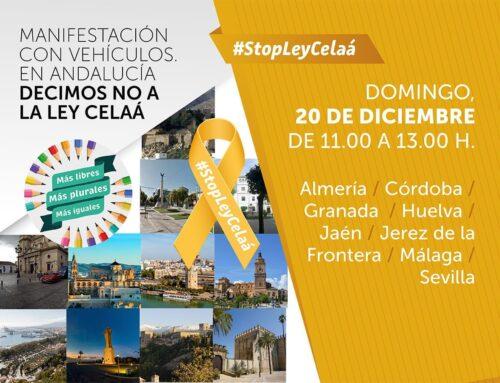 ¡Súmate! El domingo 20 de diciembre volvemos a salir a las calles de Andalucía para decir no a la Ley Celaá