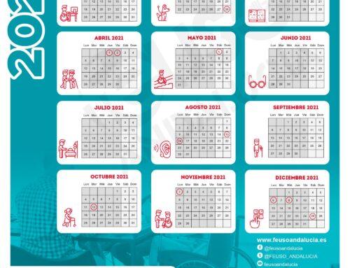 Calendario laboral 2021 de FEUSO Andalucía