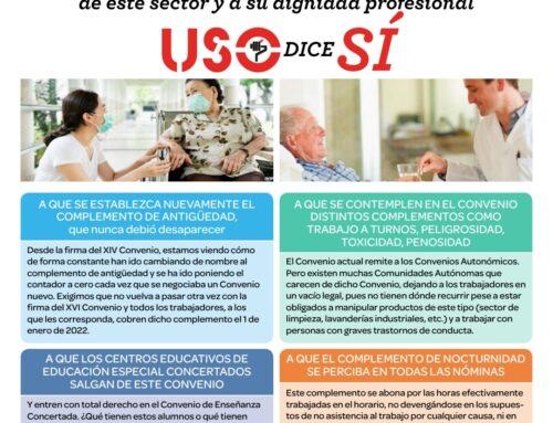 Postura de la USO ante la denuncia al convenio de Atención a la Discapacidad
