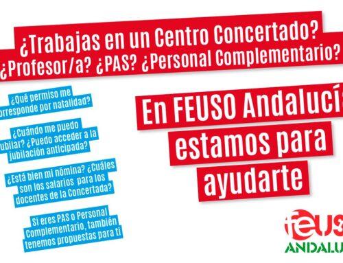 Si eres profesor/a, PAS o Personal Complementario en la Enseñanza Concertada, en FEUSO Andalucía estamos para ayudarte