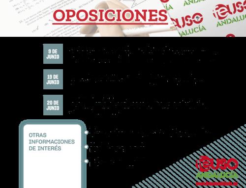 Información de interés sobre la convocatoria de oposiciones para profesorado de la enseñanza pública de Andalucía