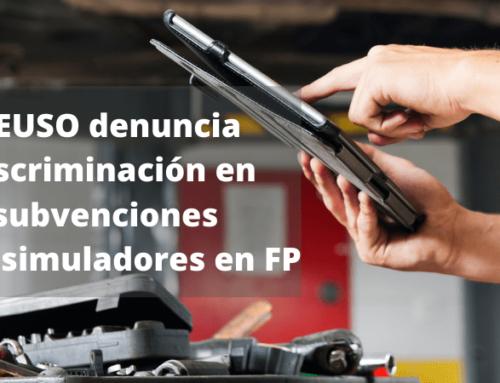 La Junta de Andalucía vuelve a discriminar a los centros de FP concertados en el acceso a subvenciones para adquirir simuladores