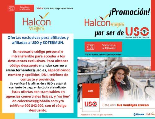 Accede a descuentos exclusivos de Halcón Viajes por ser de USO