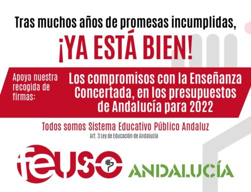 Apoya con tu firma nuestra reivindicación en apoyo de los trabajadores de la Enseñanza Concertada de Andalucía